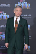 Martin Freeman Black Panther premiere