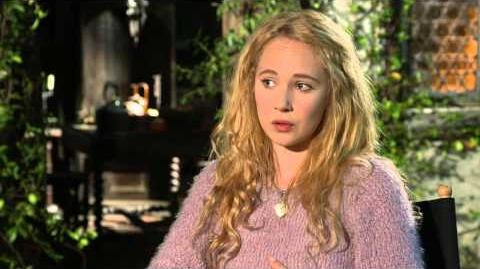 "Maleficent Juno Temple ""Thistlewit"" On Set Movie Interview"
