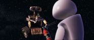 Wall e pixar movie in space with eve