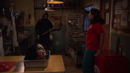 Gladys sees the killer
