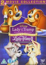 Lady and the Tramp 1-2 Box Set UK DVD