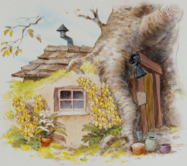 Картинка домик винипуха