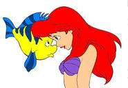Ariel and Flounder by bubbles16