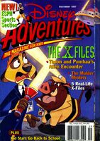 Disney adventures sept 1997 cover x files timon pumbaa