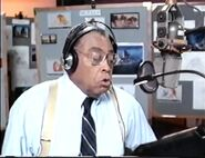 James Earl Jones behind the scenes of TLK