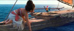 Vaiana und HeiHei auf der Suche nach Maui
