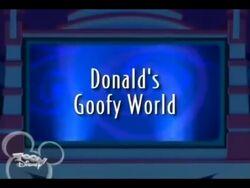 Donald's Goofy World