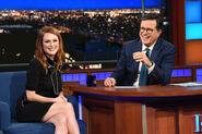 Julianne Moore visits Stephen Colbert