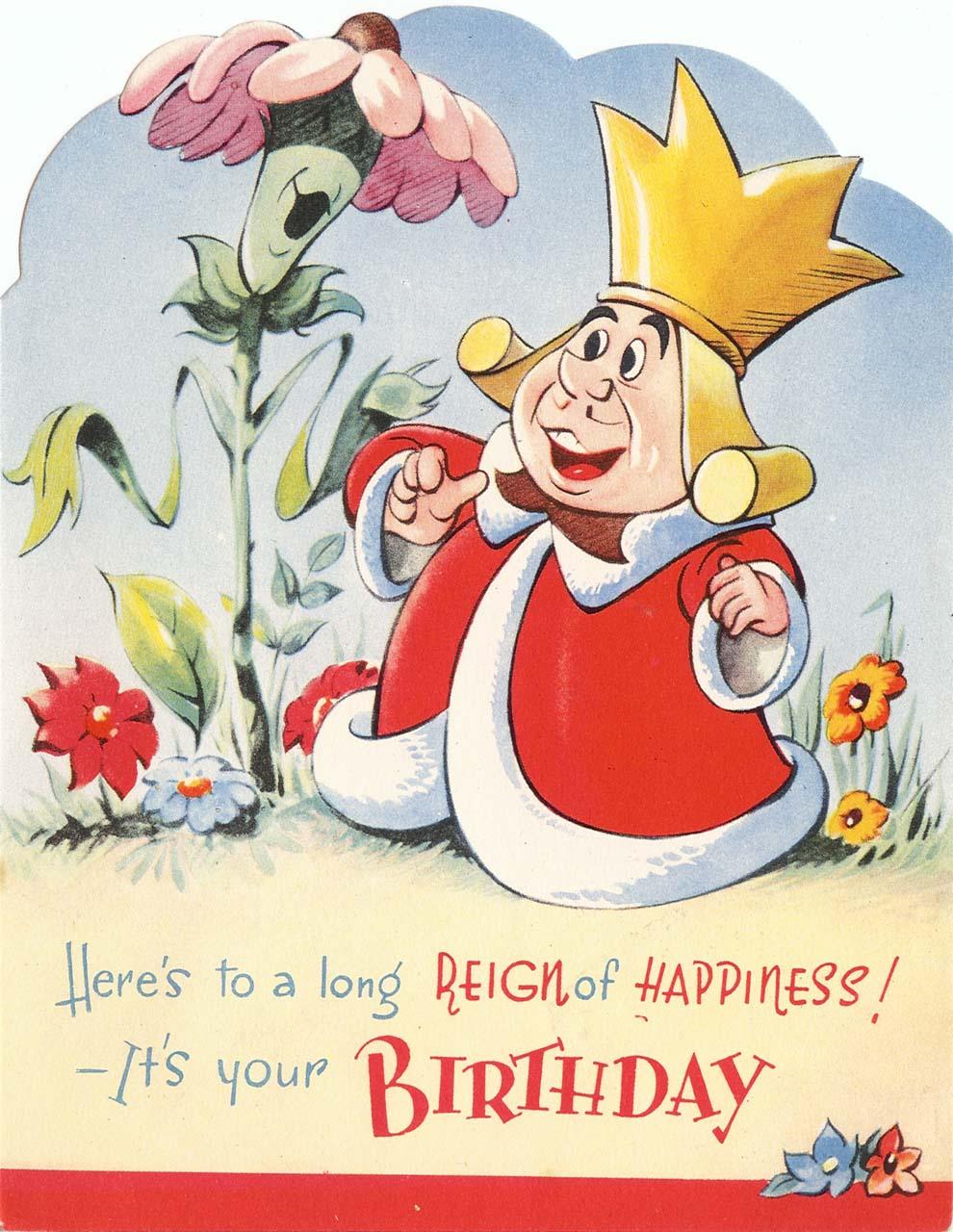 English Valentine Birthday Card   King Of Hearts   Ftont Blog