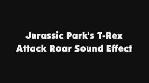 Jurassic Park's T Rex Attack Roar SFX