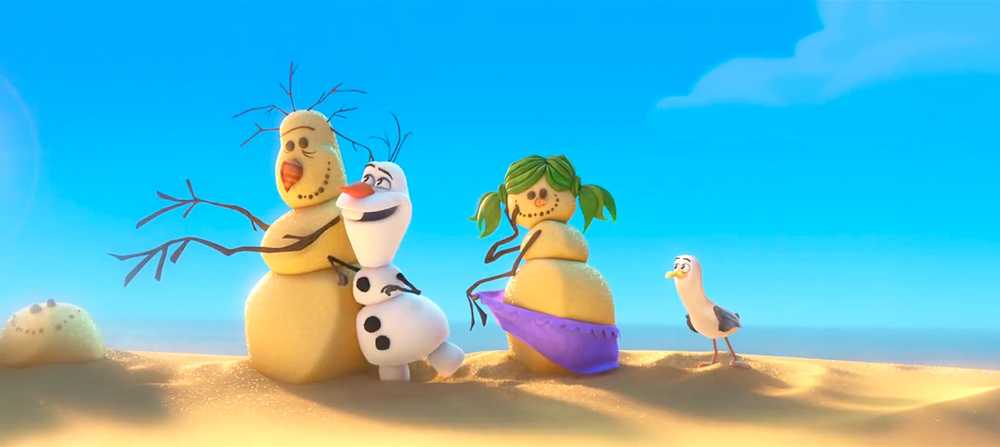 Olaf The Snowman Singing In Summer