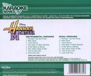 Karaoke series hannah back cover