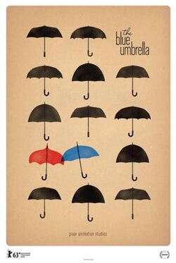 Rct332 blue umbrella poster