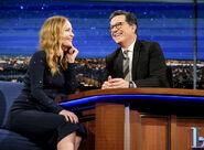 Leslie Mann visits Stephen Colbert