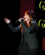 Vicki Lewis performs at Sardi's