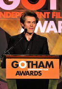 Willem Dafoe speaks at Gotham Awards