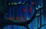 Woodland-creatures-gather-on-a-branch-in-pocahontas 198818ee