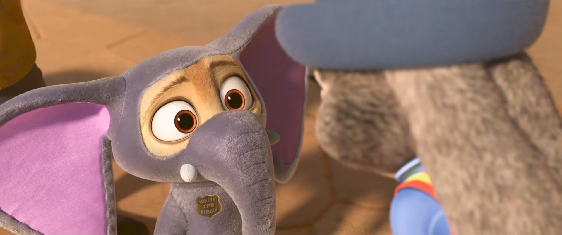 Finnick while in his full elephant garb and Judy. & Finnick | Disney Wiki | FANDOM powered by Wikia