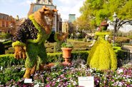 Belle and Beast Topiary