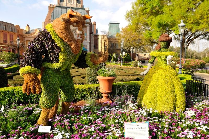 Marvelous Disney Topiary Part - 5: Belle And Beast Topiary.jpg