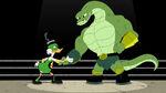 Ducktales Jormugandr and Scrooge