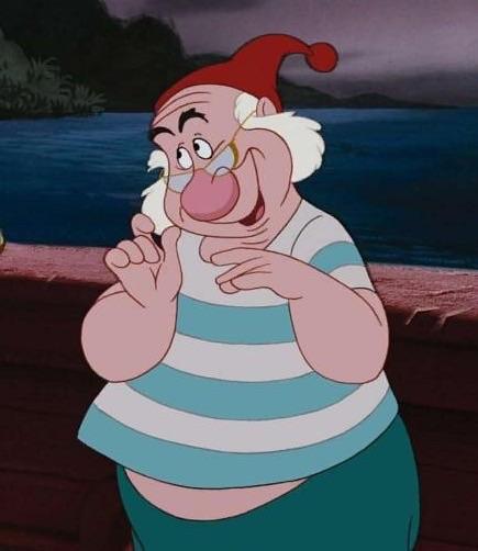 Hook /& Smee Disney Villain Peter Pan Women/'s White Vest Top
