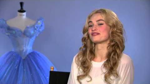 "Cinderella Lily James ""Cinderella"" First Official Movie Interview"