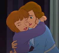 Jane hugging her mother and reconciling