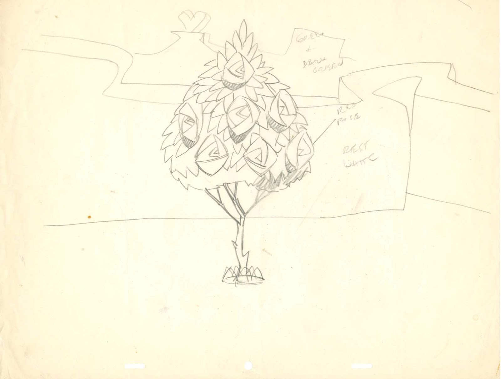 Line Drawing Wiki : Image field drawing rose tree layout g