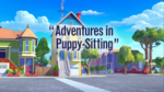 Adventures in Puppy Sitting title card