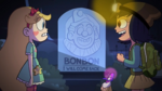 Bon Bon the Birthday Clown - Star and Janna in front of Bon Bon's tombstone