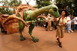Lucky the Dinosaur at Hong Kong Disneyland