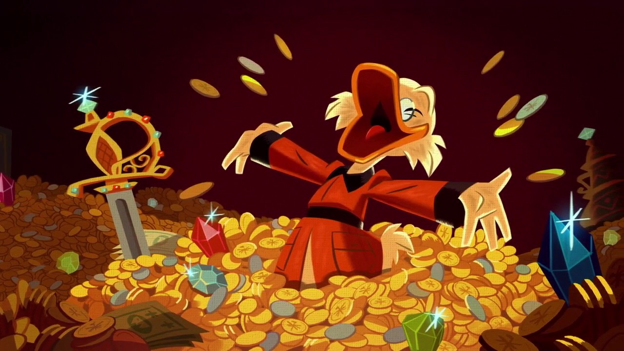 62e15b5d3 Scrooge and his hoard of treasure, as depicted in 2017's revival of  DuckTales.