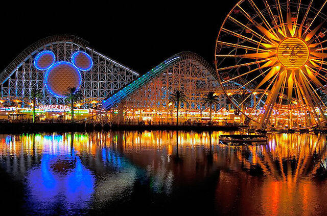 File:California Screamin at night.jpg