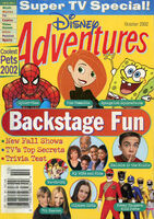 Disney Adventures Magazine cover October 2002 Backstage Fun
