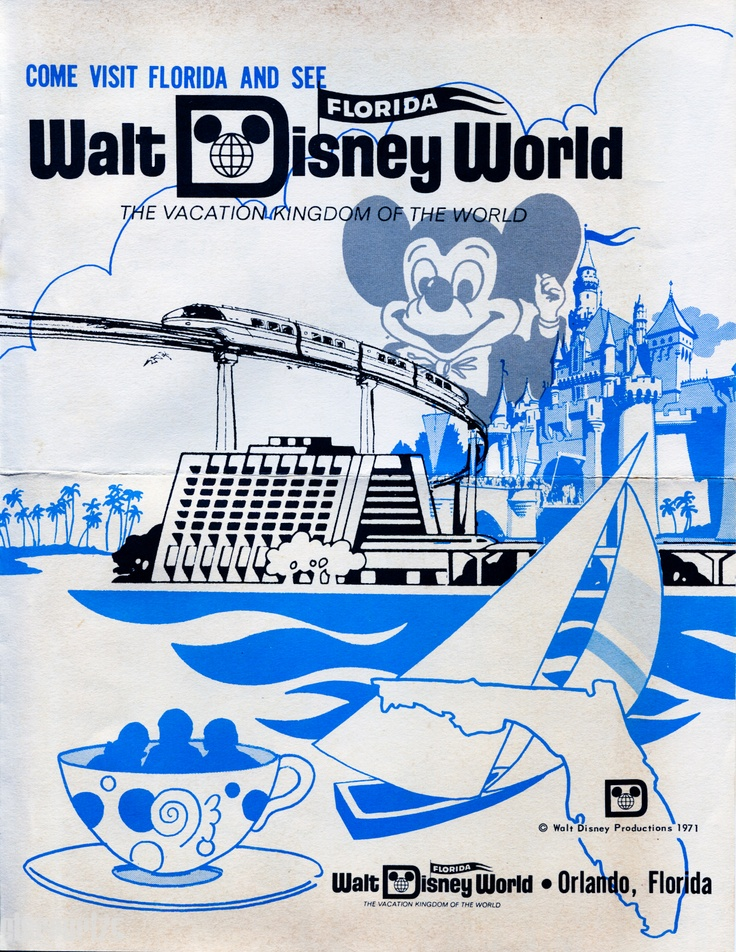 Old Disney World Advertisement 1971