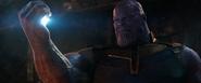 Thanos crushes the Tesseract
