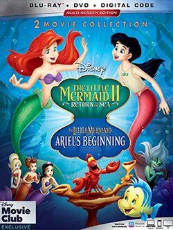 The Little Mermaid II & Ariel's Beginning Blu ray 2019