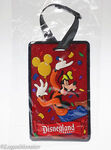 Disneyland goofy 3d luggage bag tag