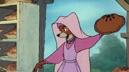 Maid Marian about to throw a pie at Trigger
