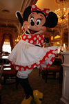 Minnie Mouse posing for photo