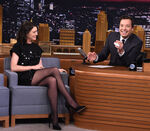 Anne Hathaway visits Jimmy Fallon