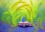 Disney's Alice in Wonderland - Caterpillar Concept Art by Mary Blair - 1