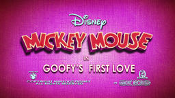 Mickey Mouse Goofy's First Love Title Screen