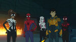 Spider-Man - 3x05 - Generations - Spider-Girl, Spider-Man, Ghost-Spider, Harry Osborn and Miles Morales