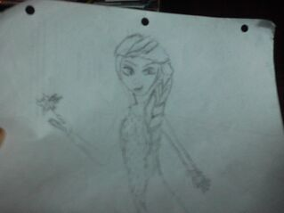 Elsa drawing that is bad
