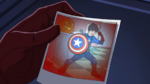 Young Tony Dressed as Cap