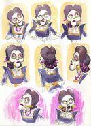 Coco Imelda facial expressions concept art