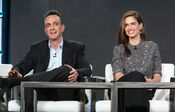 Hank Azaria & Amanda Peet at IFC Presentation Brockmire