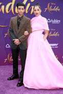 Mena Massoud & Naomi Scott Aladdin 2019 premiere